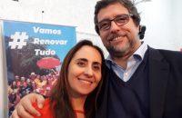 A candidata a Deputada Federal Adriana Ventura e o candidato a Vice-Presidente Professor Christian