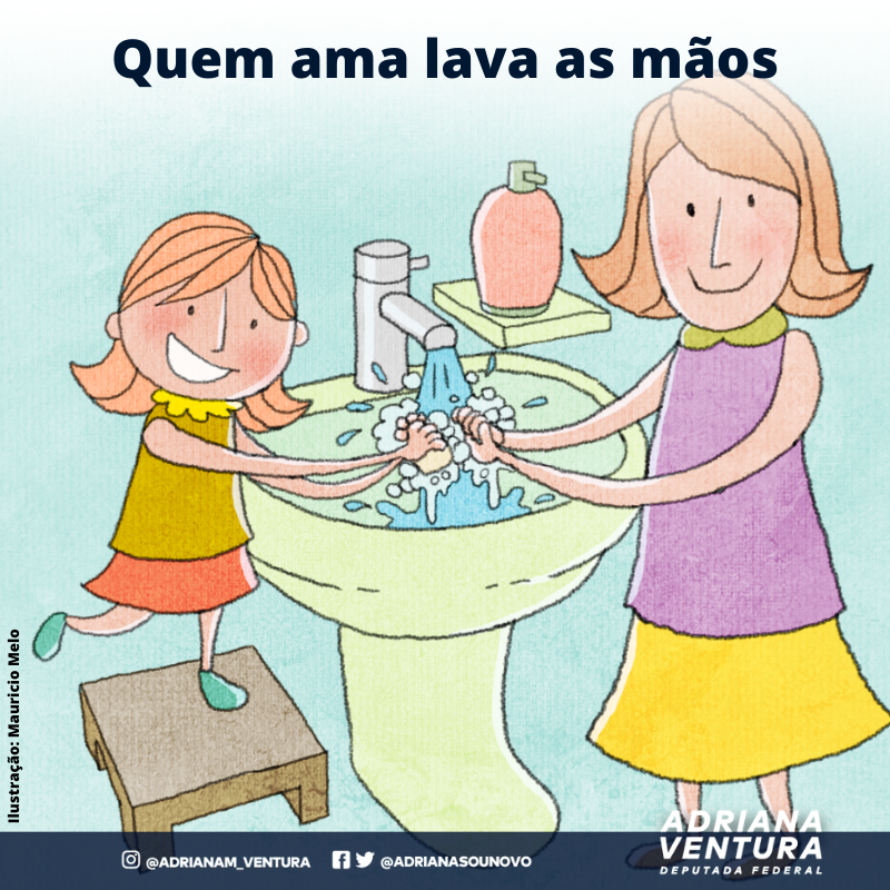 Quem ama lava as mãos