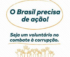 Voluntário combate corrupção