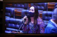 Deputada Adriana Ventura no Plenário da Câmara